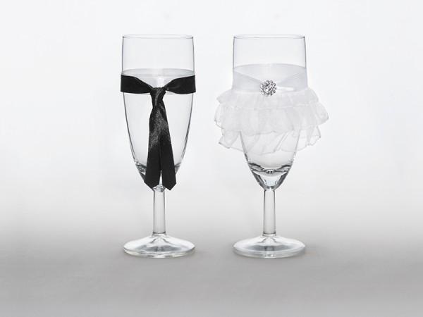 Sektgläser Hochzeitspaar