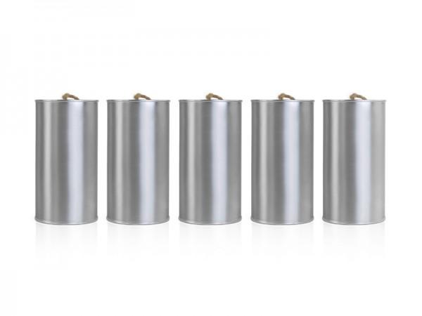 Blechdosenset Silber