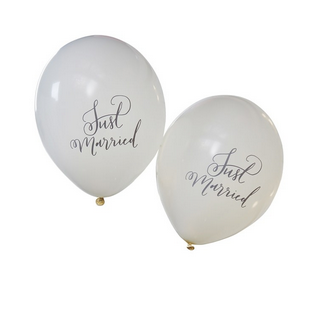 Luftballons Just Married Creme