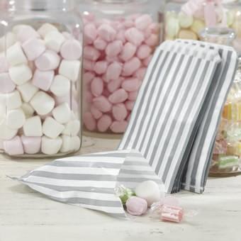 Candybar Säckchen Silber