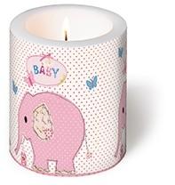 Kerze rosa Elefant