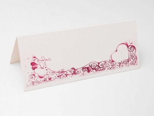 Tischkarte Rosarot