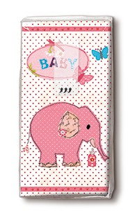 Taschentücher rosa Elefant