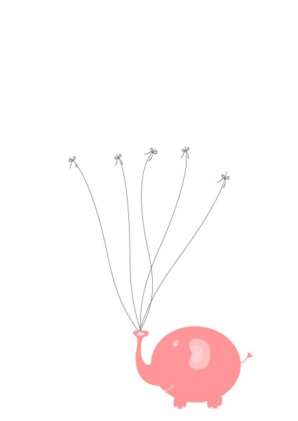 Taufbaum rosa Elefant
