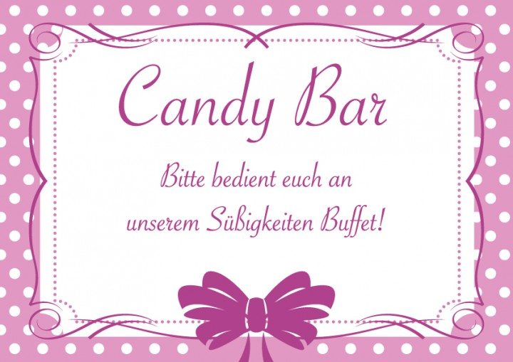 candybar schild rosa make my day der hochzeitsshop. Black Bedroom Furniture Sets. Home Design Ideas