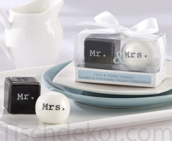 Salz- und Pfefferstreuer Mr. & Mrs.