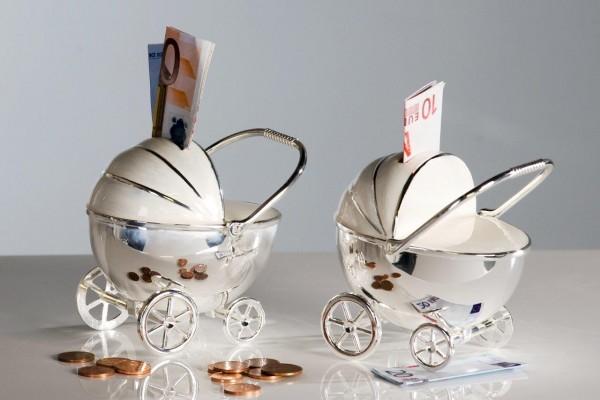 Spardose Kinderwagen