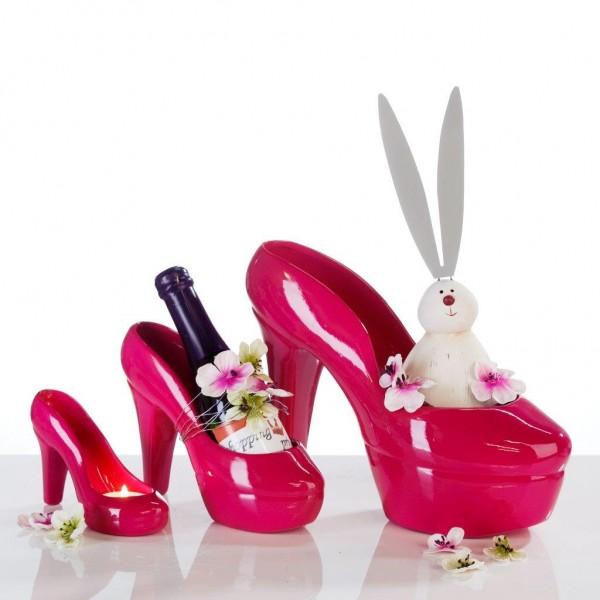 Dekoschuh pink make my day der hochzeitsshop for Pink deko