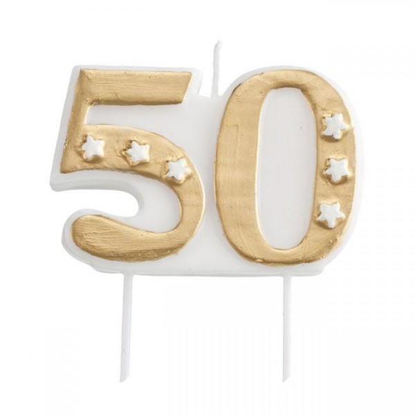 """Zahlenkerze """"50"""""""