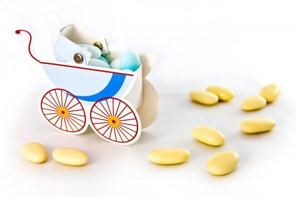 Geschenkbox Kinderwagen Bub