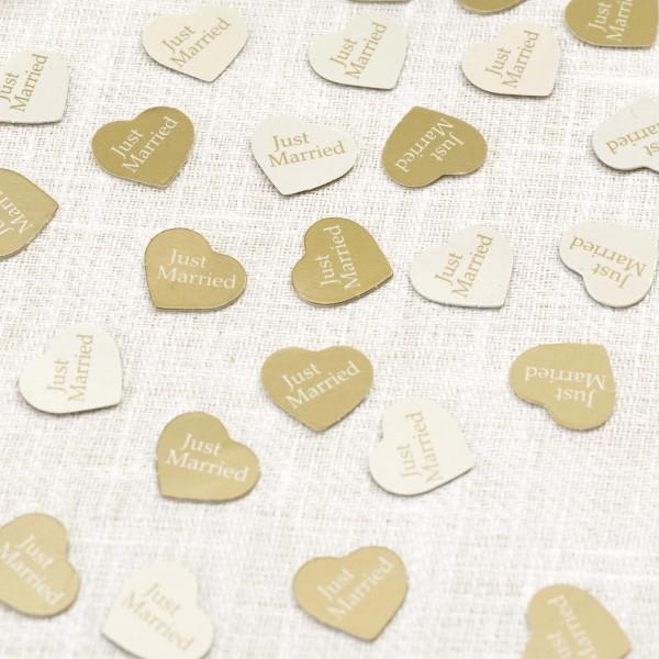 Streuteile Herz Gold