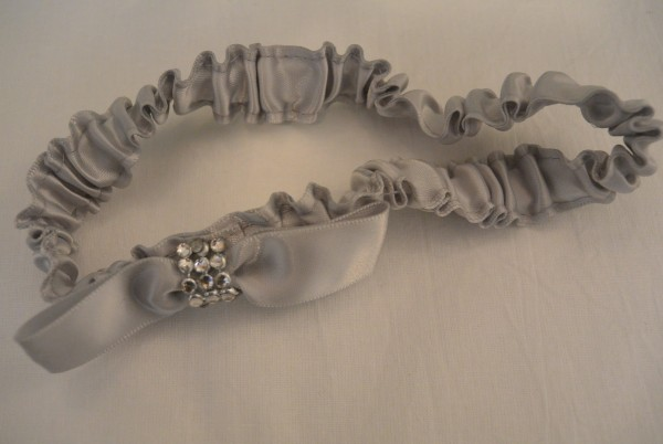 Strumpfband Silber