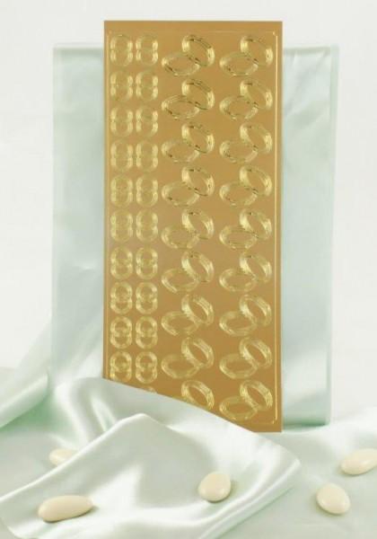 Sticker Doppelringe Gold oder Silber