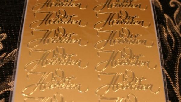 Sticker Wir Heiraten Gold
