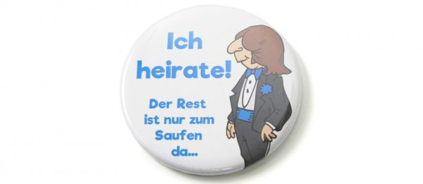 Button Ich heirate - Bräutigam