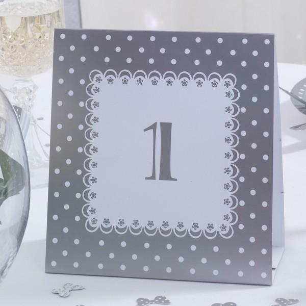 Tischnummer Chique