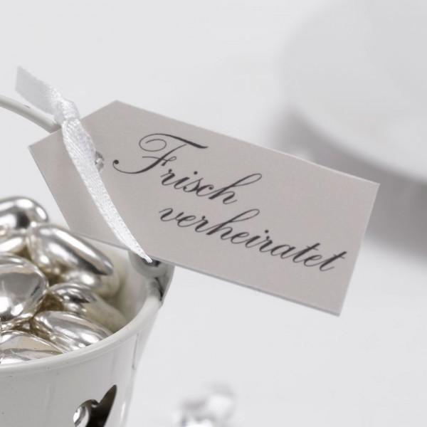 Anhänger Frisch Verheiratet Creme