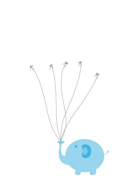 Taufbaum blauer Elefant
