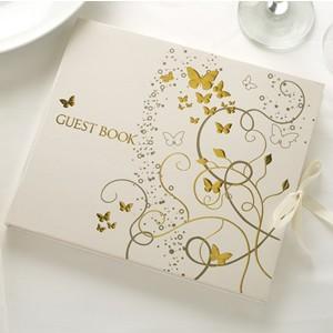 Gästebuch Schmetterlinge Gold