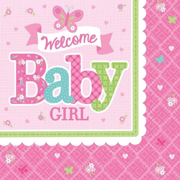 Servietten Welcome Babygirl