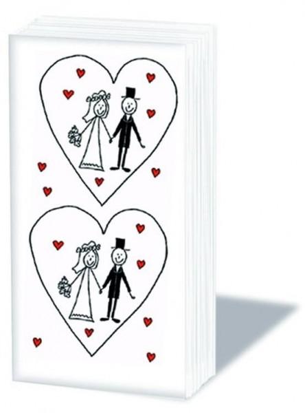 Taschentücher Brautpaar
