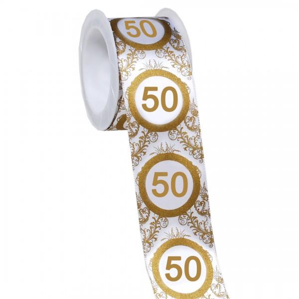Geschenkband Goldene Hochzeit