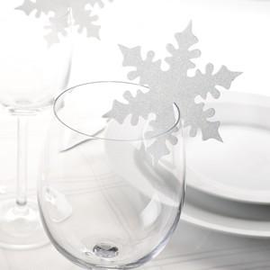 Tischkarte Schneeflocke