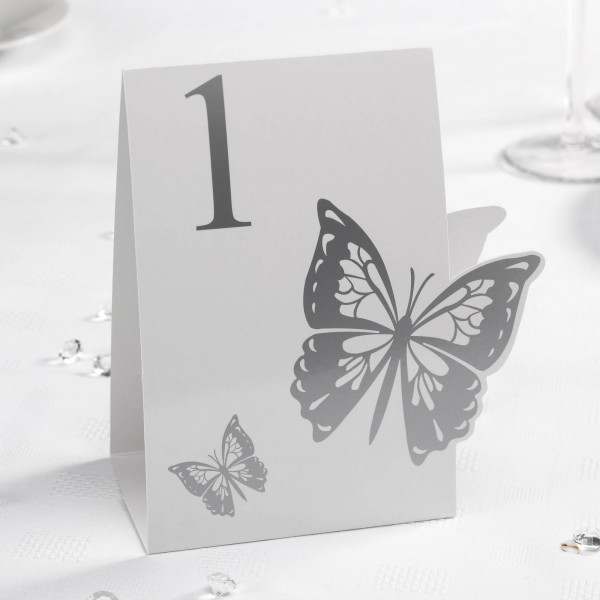 Tischnummer Schmetterling