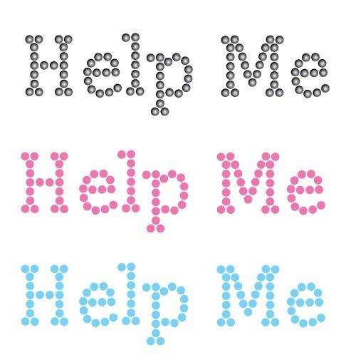 Help me Schuh-Sticker