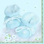Serviette Baby Blau
