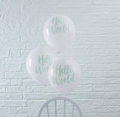 Luftballons Hello World