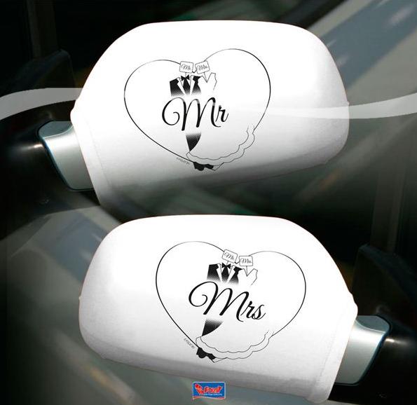 Autospiegel-Deko Mr. & Mrs.