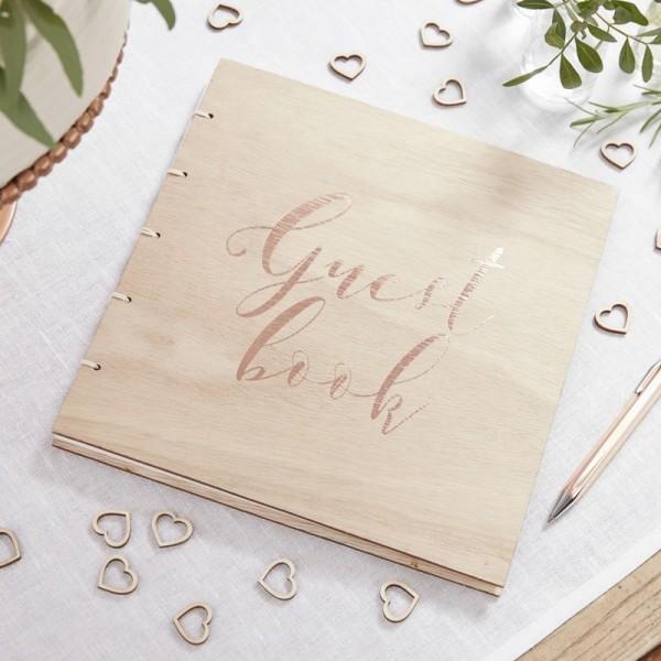 Gästebuch Holz