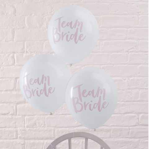 Luftballons Team Bride