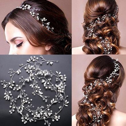 Hair Vine Silber