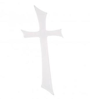 Wachsmotiv Kreuz Weiß