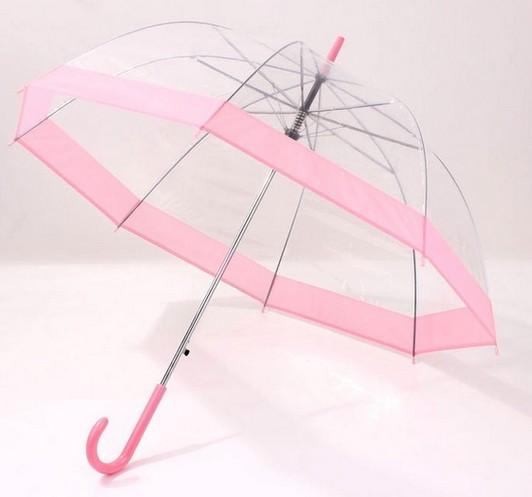 Regenschirm Transparent Rosa