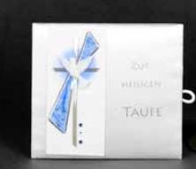 Taufbrief Harmonie Blau
