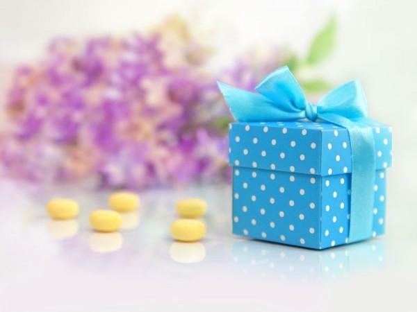Geschenkbox Blau
