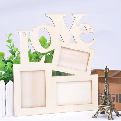 Holzbilderrahmen Love