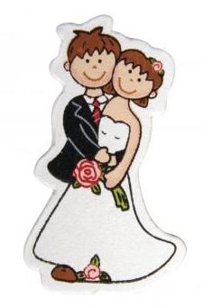 Holzstreuteile Brautpaar