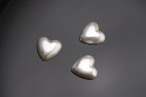 Streuteile Herzchen Perlmutt