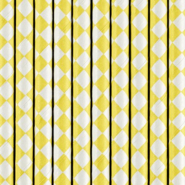 Strohhalme Gelb