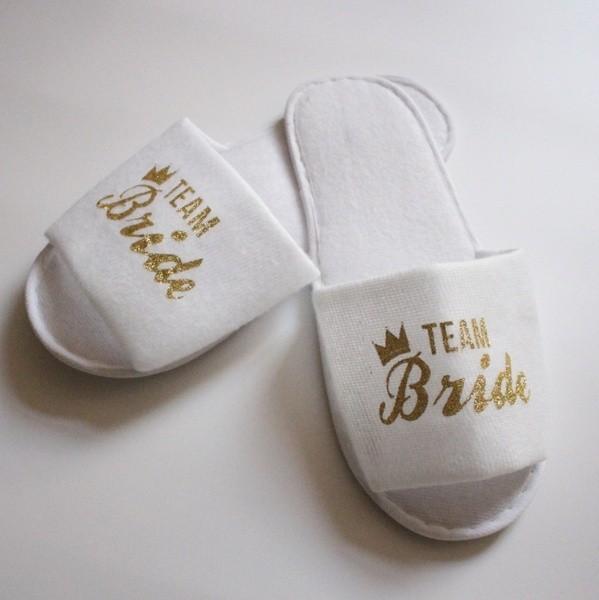 Badeschlapfen Team Bride