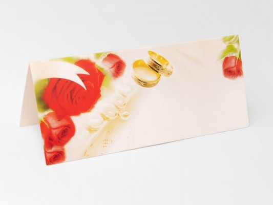 Tischkarten Rosen