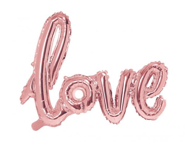 Folienballon LOVE Rosé Kinky