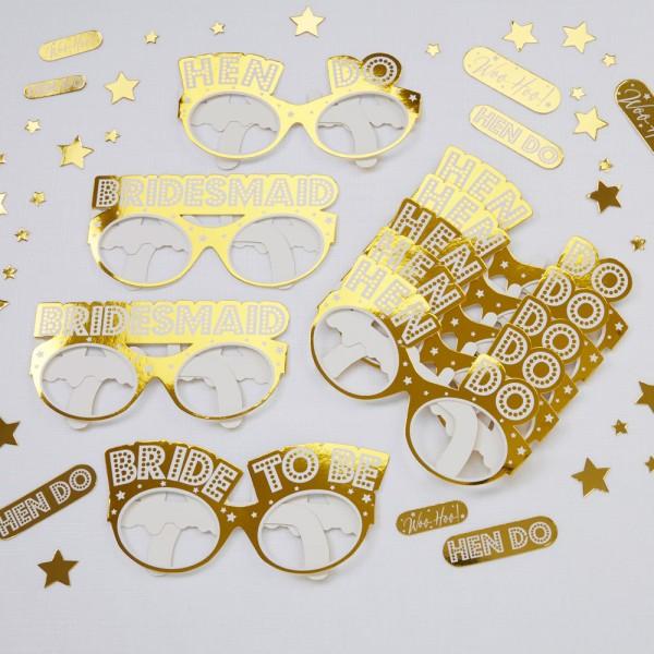 Brillen-Set Gold