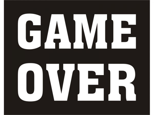 GAME OVER Schuh-Sticker
