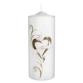 Hochzeitskerze Goldenes Herz - Stumpen