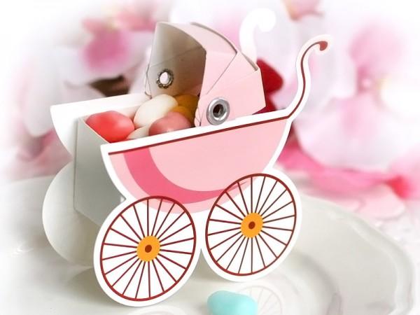 Geschenkbox Kinderwagen Mädchen